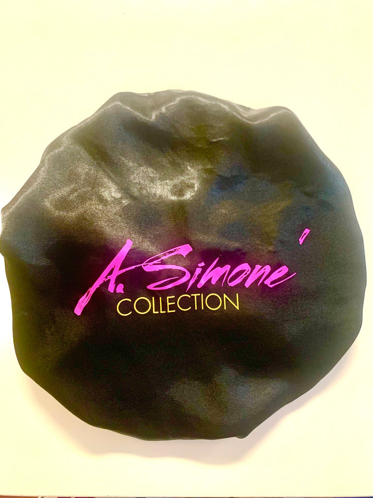 A. Simone Collection Satin Bonnet