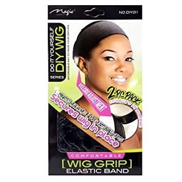 Magic Collection Wig Grip Elastic Band (Black )