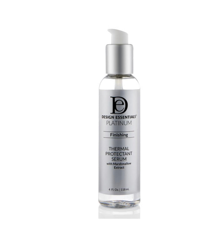 Design Essentials Platinum Finishing Thermal Protectant Serum w Marshmallow Extract