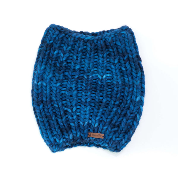 Men's Merino Wool Cowl - Midnight Blue