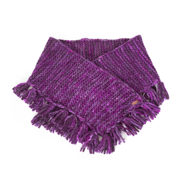 Women's Oversized Merino Wool Shawl with Tassles - Sangria