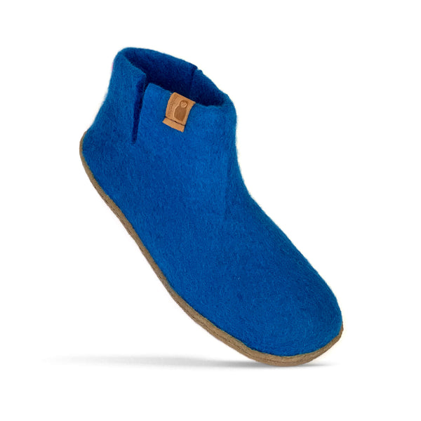 Wool Bootie with Rubber Sole - Light Blue