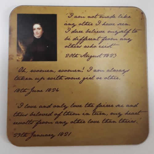 Anne Lister Quote Cork Coaster