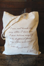 Load image into Gallery viewer, Anne Lister Quote Shopping Bag