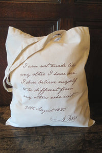 Anne Lister Quote Shopping Bag