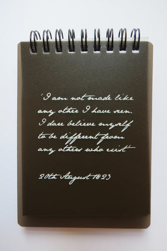 Anne Lister Quote Notebook