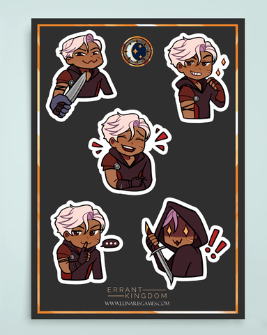 Errant Kingdom Character Sticker Sheets