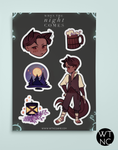 When The Night Comes Sticker Sheets
