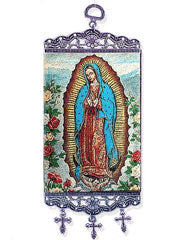Icon Banner Tapestry - Our Lady of Gaudalupe