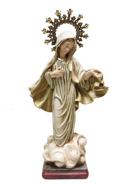 Hand painted in Colombia. 10 inch statue of Our Lady of Medjugorje