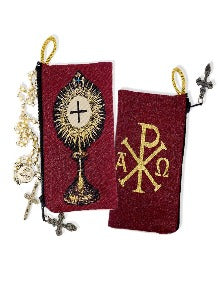 Rosary Pouch - Blessed Sacrament Monstrance