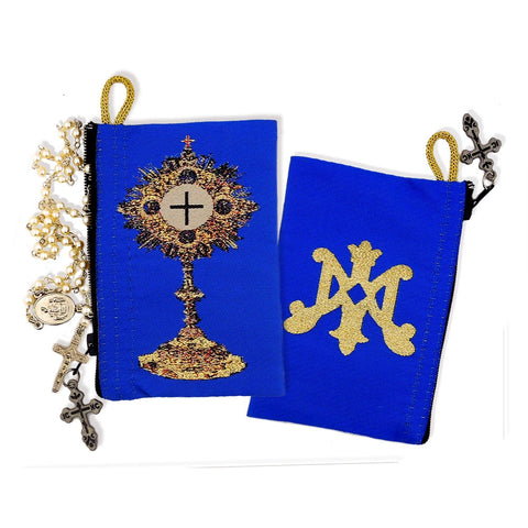Rosary Pouch - Blessed Sacrament & Symbol of Virgin Mary