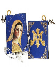 Tapestry Rosary Icon Pouch - Virgin Of Grace