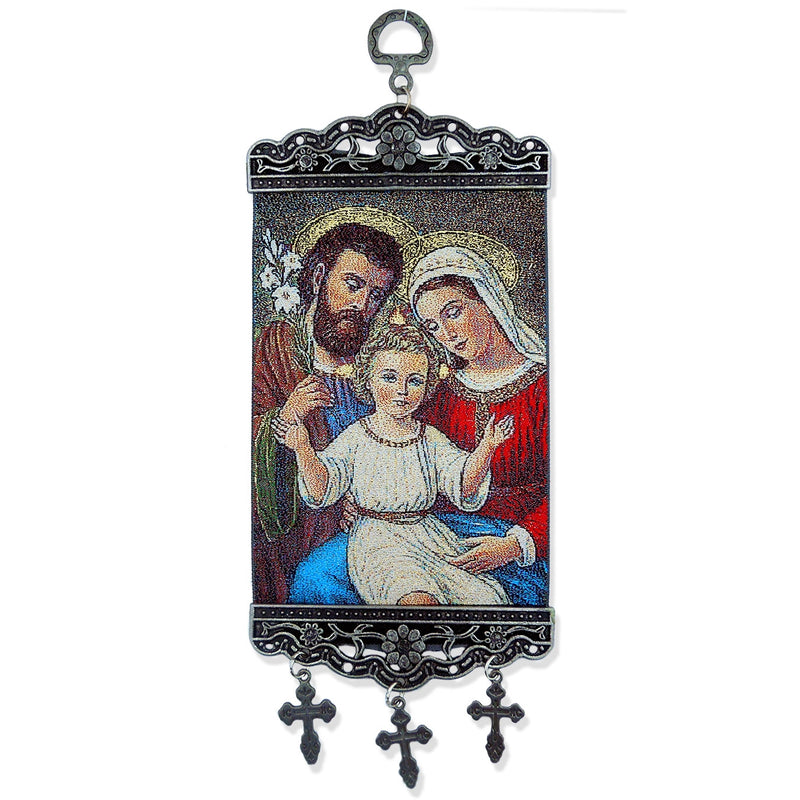 Tapestry Icon Banner - Holy Family