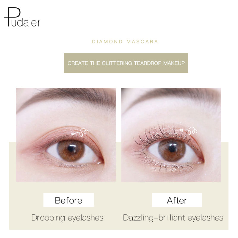 Pudaier®  Galaxy Glitter Diamond Mascara