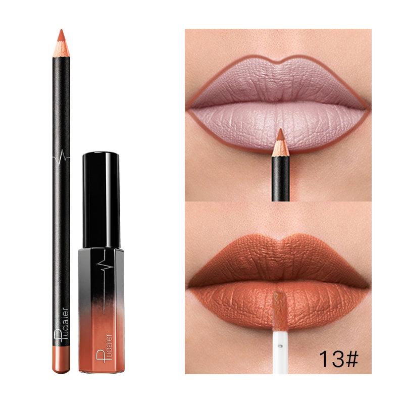 Liquid Lipstick+Lip Liner Set