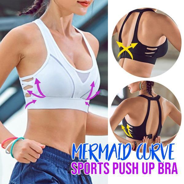 Mermaid Curve Sports Push Up Bra