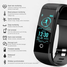 Load image into Gallery viewer, Waterproof Fitness Tracker Smartwatch
