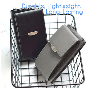 Waterproof Multi-Slot Leather Pouch