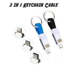 Load image into Gallery viewer, 3 in 1 Keychain Cable