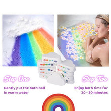 Load image into Gallery viewer, Mosturizing Rainbow Cloud Bath Bomb