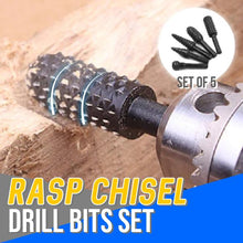 Load image into Gallery viewer, Rasp Chisel Drill Bits Set