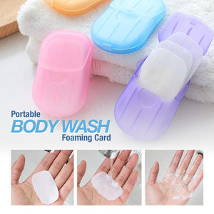 Portable Bodywash Foaming Card