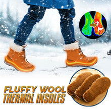 Load image into Gallery viewer, Fluffy Wool Thermal Insoles