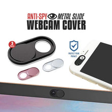 Load image into Gallery viewer, Anti-Spy Metal Slide WebCam Cover (3PCs)