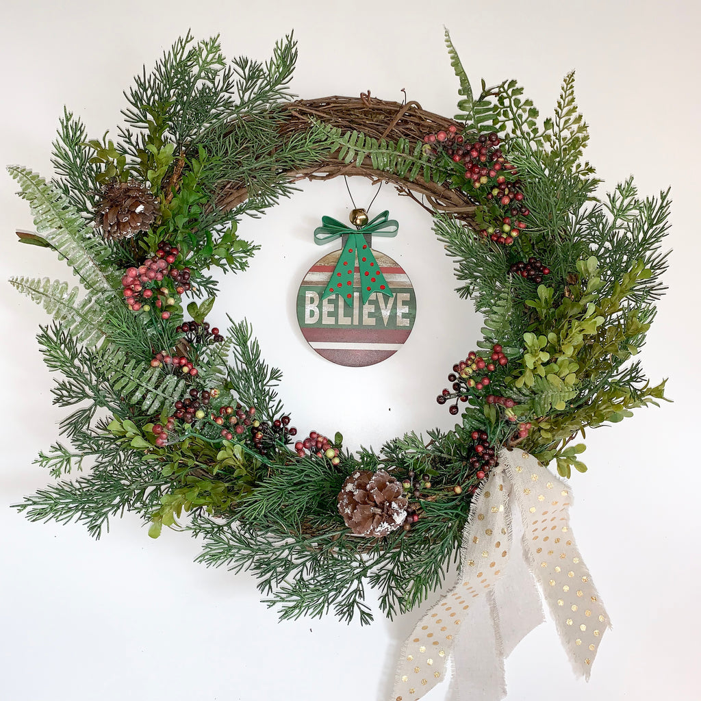 Holiday Believe Wreath
