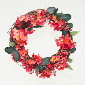 Coral Floral Wreath