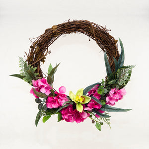 Pretty in Pink Hydrangea Wreath