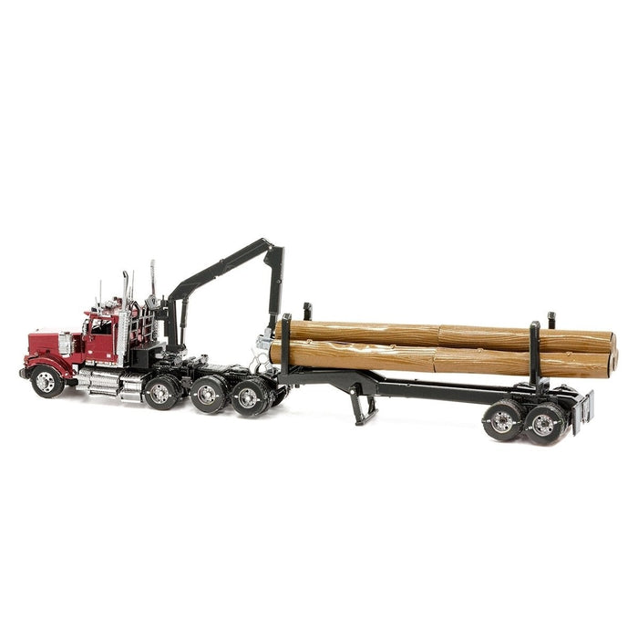 Shop Fascinations Metal Earth ICONX Western Star 4900SB Log Truck & Trailer 3D Metal Model Kit - Aliens Poop