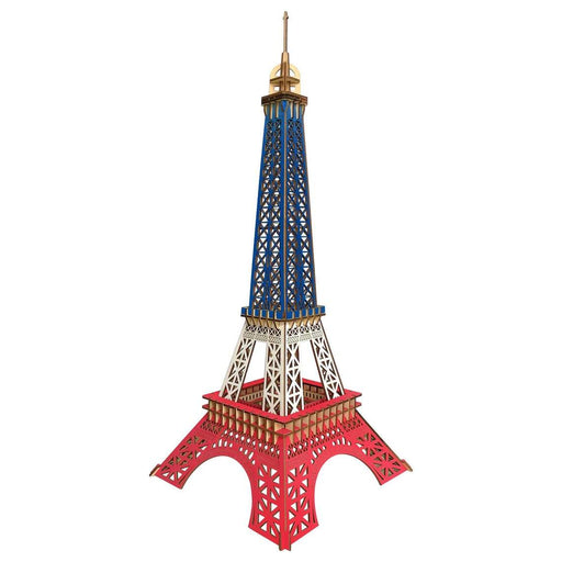 "Shop Natural Wood 3D Puzzle 23"" High Eiffel Tower Wooden Jigsaw Craft Building Set - Aliens Poop"