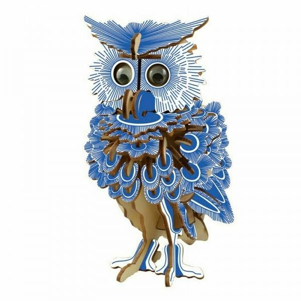 Shop Natural Wood 3D Puzzle Owl Wooden Jigsaw Craft Building Set - Aliens Poop