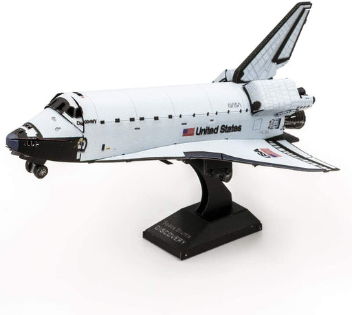Shop Fascinations Metal Earth Space Shuttle Discovery Color Version 3D Metal Model Kit - Aliens Poop