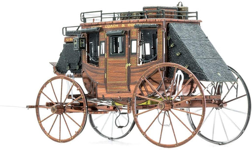 Shop Fascinations Metal Earth Wild West Stagecoach 3D Metal Model Kit - Aliens Poop
