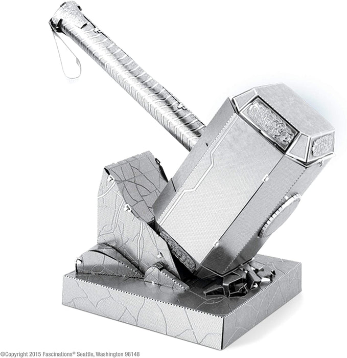 Shop Fascinations Metal Earth Marvel Mjolnir Thor's Hammer 3D Metal Model Kit - Aliens Poop