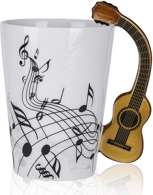 Shop Guitar Handle with Music Print Coffee Mug, 7 oz - Aliens Poop
