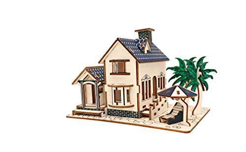 Shop Natural Wood 3D Puzzle Tiny House Collection Wooden Jigsaw Craft Building Set (Beach House) - Aliens Poop