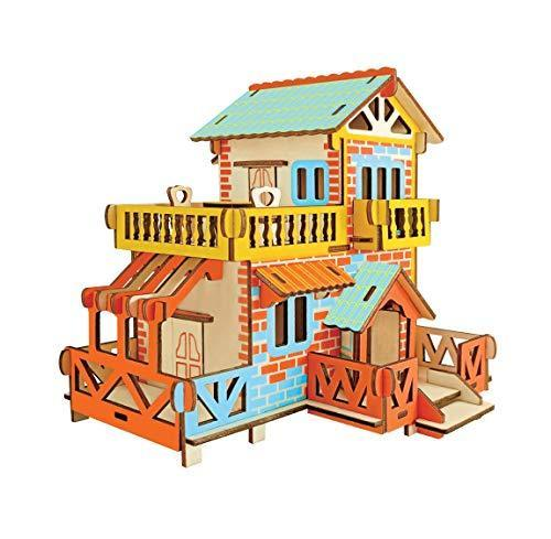 Shop Natural Wood 3D Puzzle Tiny House Collection Wooden Jigsaw Craft Building Set (Country Cottage) - Aliens Poop