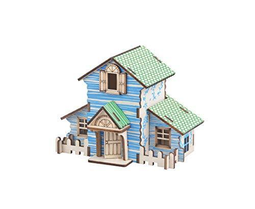 Shop Natural Wood 3D Puzzle Tiny House Collection Wooden Jigsaw Craft Building Set (Forest Cottage) - Aliens Poop