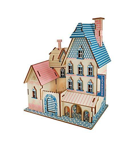 Shop Natural Wood 3D Puzzle Tiny House Collection Wooden Jigsaw Craft Building Set (PACA Villa) - Aliens Poop