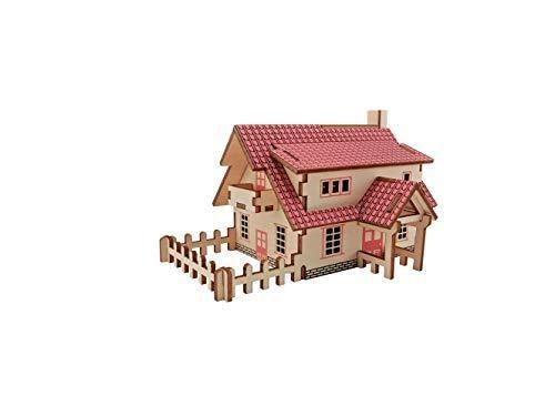 Shop Natural Wood 3D Puzzle Tiny House Collection Wooden Jigsaw Craft Building Set (Ranch House) - Aliens Poop
