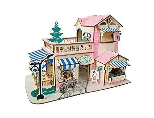 Shop Natural Wood 3D Puzzle Tiny House Collection Wooden Jigsaw Craft Building Set (Romantic Coffee Bar) - Aliens Poop