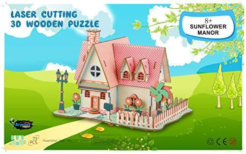 Shop Natural Wood 3D Puzzle Tiny House Collection Wooden Jigsaw Craft Building Set (Sunflower Manor) - Aliens Poop