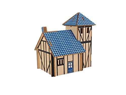 Shop Natural Wood 3D Puzzle Tiny House Collection Wooden Jigsaw Craft Building Set (Western Farmhouse) - Aliens Poop