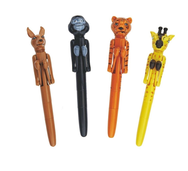 Shop Novelty Jungle Animals Boxing Pen 4 pack Set - Aliens Poop