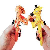Novelty Jungle Animals Boxing Pen 4 pack Set-Aliens Poop