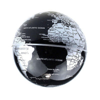 Levitation Black Globe with LED Lights C Shape Magnetic Floating World Map-Aliens Poop